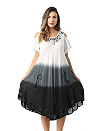 Riviera Sun Cold Shoulder Ombre Casual Sundress for Women