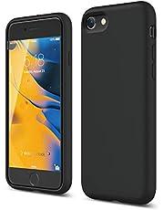 elago Premium Liquid Silicone Case Designed for iPhone SE 2020 / iPhone 8 / iPhone 7 (Black)