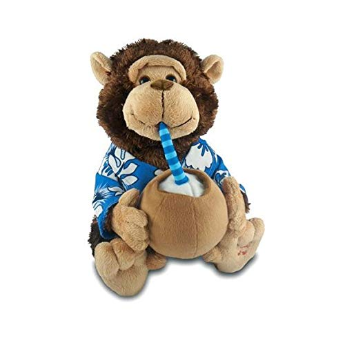 """Vacation Monty - """"Escape (If You Like Pina Coladas)"""" Animated Singing Monkey Plush Toy With Expanding Cheeks from Mills, Cuddle Barn"""