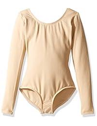 "Capezio Dance Girls' Long Sleeve Leotard TB134C (Set of 2) Nude Size M (46"")"