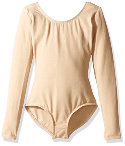 Capezio Little Girls' Long Sleeve Leotard, Nude Small