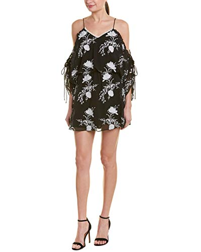 Price comparison product image Alice + Olivia Womens Holden Drop Waist Dress,  S,  Black