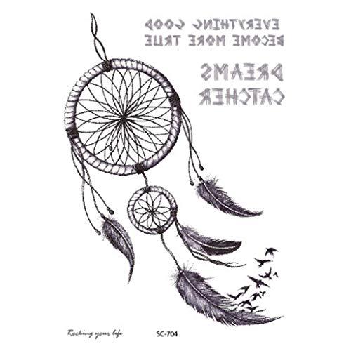 Horoshop Temporary Tattoo Body Art Sticker, Dream Catcher Pattern Waterproof Adult Party Supply Festival Gift