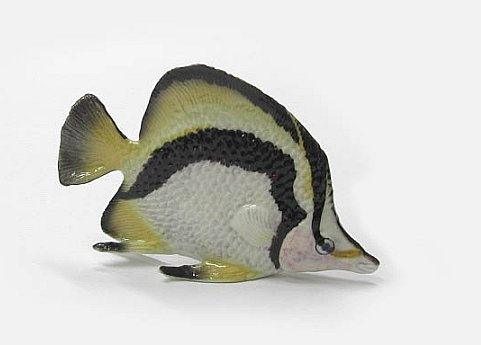 Northern Rose Butterfly Fish Figurine