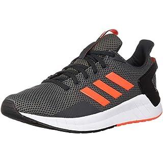 adidas Men's Questar Ride Running Shoe, Carbon/Solar Red/Grey Four, 10.5 M US
