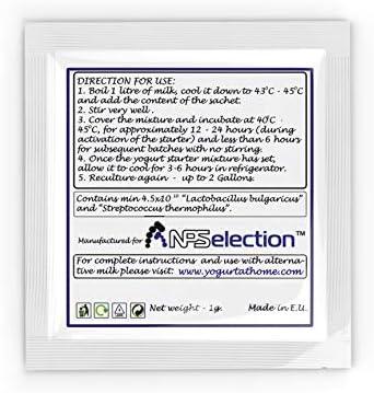 Cultivos de yogur – Bolsitas de cultivo liofilizado para preparar ...
