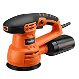 VonHaus 3.5 Amp 5-inch Random Orbit Sander Orbital Polisher with 9 Sanding Pads, 3 Polishing Pads and Dust Extractor