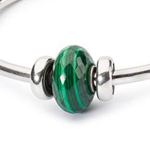 Trollbeads 925Vert malachite Pierre Perle Bracelet Argent sterling Bracelet