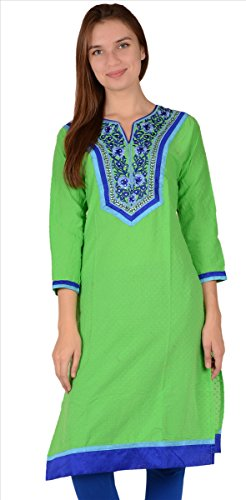 SNS Top Tunic for women, Cotton Long shirt with Embroidery