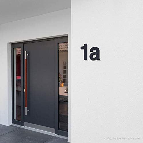 Hausnummernschild VIRTON in RAL 7016 anthrazitgrau mit Stra/ße und Nr. Frabox/® Hausnummer
