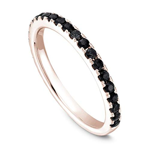 Buy tcw black diamond ring size 7