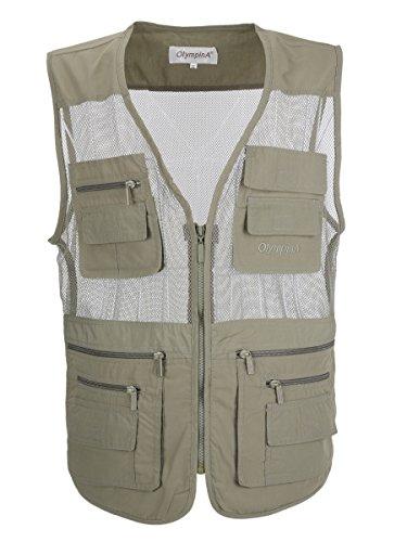 LUSI MADAM Men's Mesh Breathable Multi Pocket Fishing Vest US S/Asia XL Green Review