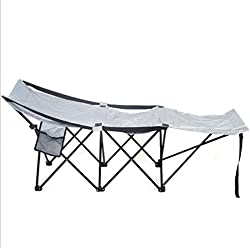 Folding Adventure Camp Bed Portable Durable Camping Hammock Sleeping Cot Steel