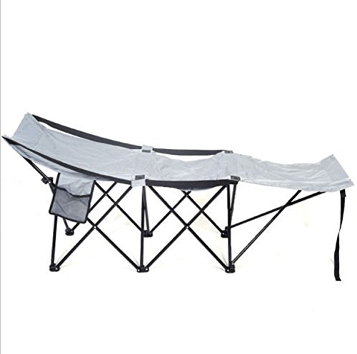 Folding Adventure Camp Bed Portable Durable Camping Hammock Sleeping Cot Steel by Phumon567