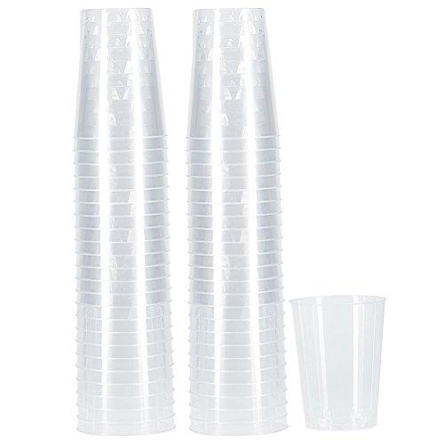 Benail 100-Pack 10-Ounce Plastic Disposable Cups Hard Disposable Plastic Party Tumblers -