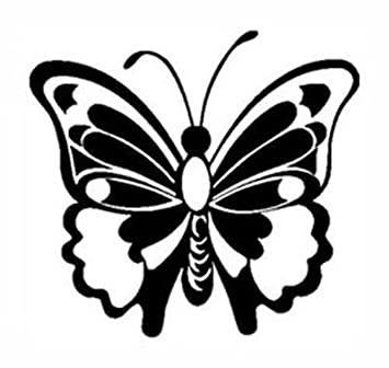 Amazoncom BUTTERFLY White Vinyl Stickerdecal Bugsdecorating - Butterfly vinyl decals