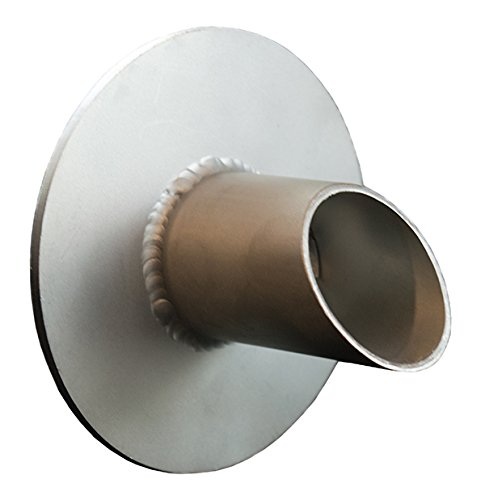 Waverly 1.5'' Round Water Spout Scupper Spillway for Pool, Pond, Fountain, Water Feature - Silver Metallic by Majestic Water Spouts