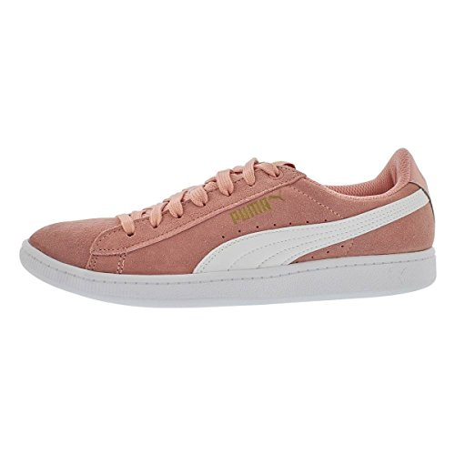 PUMA Women's Vikky Sneaker, Peach Beige White, 9 M US