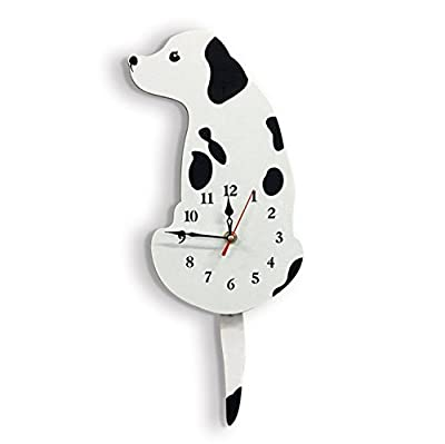 "baby way Wall Clock,Decorative Cat Wall Clock with swinging Tails,7"" w x 16.5"" h (18CM x 42CM) Battery not Included For Bedroom,Livingroom"