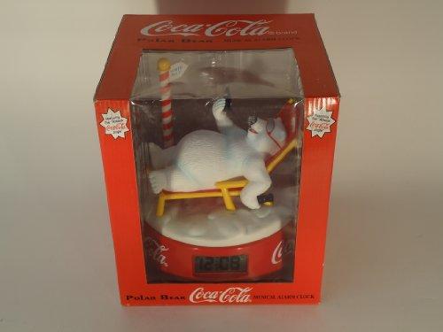Coca-Cola Polar Bear Musical Alarm Clock with Jumbo Digital Display