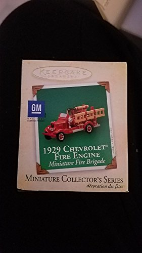 Hallmark Keepsake Miniature Series Ornament 2004 Miniature Fire Brigade 1st in Series - 1929 Chevrolet Fire Engine