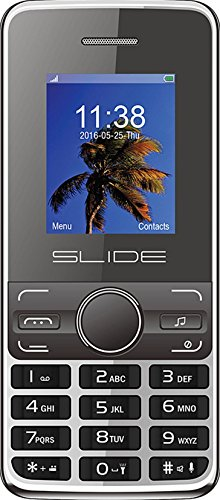 Slide Dual SIM Unlocked Cell Phone, Quad-Band 2G Compatible with All GSM Networks Worldwide - Black