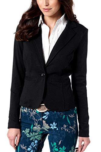 Business Moda Puro Suit Nero Marca Cappotto Giacca Autunno Lunga Bavero Di Colore Leisure Mode Manica Slim Confortevole Fit Donna Tailleur IC55fxqwA