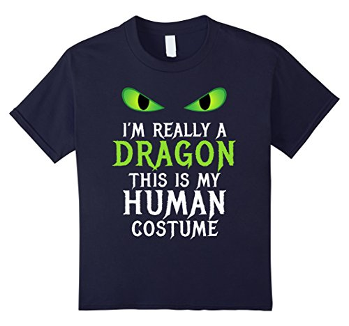 Kids Funny Scary Dragon Costume Halloween Shirt for Women Men Boy 12 Navy (Scary Halloween Costume Ideas For Groups)