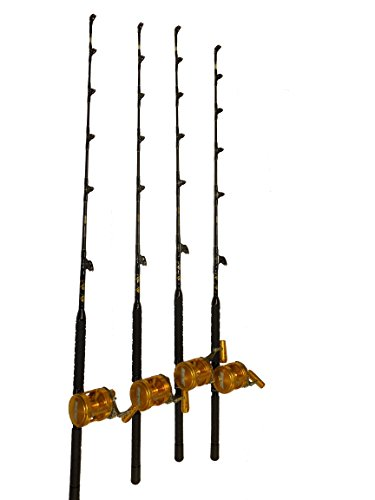 COMBO (4) 30 WIDE 2 SPEED REELS AND (4) 30-50 LB. BLUE MARLIN TOURNAMENT EDITION FISHING RODS