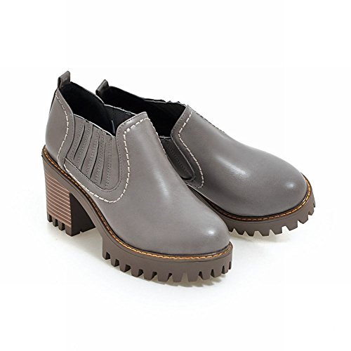 high Gray Heels Chunky Chelsea Latasa Womens Fall Boots Spring Ankle Shoes 7FfZSISv