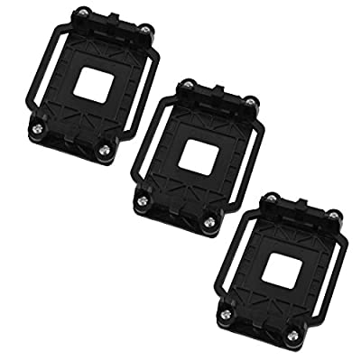 uxcell Plastic AM2 AM3 FM1 FM2 FM2+ AMD CPU Cooling Fan Bracket Base 3pcs Black