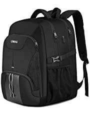 Extra Large Backpack for Men 50L,Water Resistant 17 inch Travel Laptop Backpack Bag for Men Women with USB Charging Port,TSA Friendly Big Business Computer Bag Work College School Bookbags Gift,Black