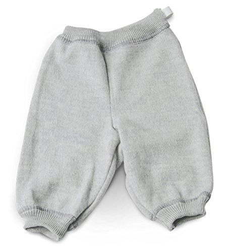 LANACARE Organic Wool Toddler/Baby Pants, Soft Grey, size 98 (2-3T)