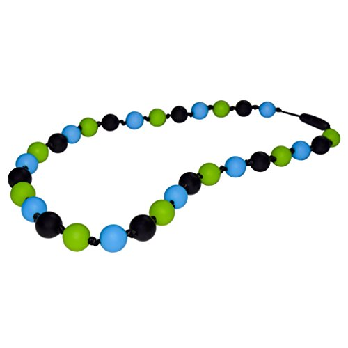- Munchables Camo Chew Necklace for Boys - Sensory Chewable Jewelry (Black/Blue/Green)