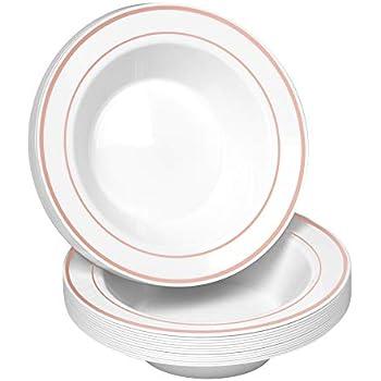 Amazon Com Wdf 60pcs Disposable Plastic Bowls 12 Oz Soup