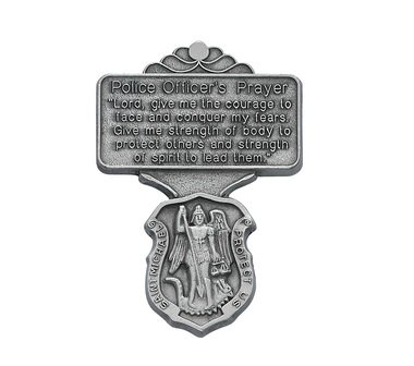St. Michael Police Officer Prayer Visor Clip