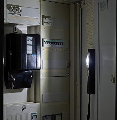 Brennenstuhl LED Taschenlampe mit Akku schwarz Multifunktionsleuchte mit 6 hellen SMD-LED Farbe 3 Stunden Leuchtdauer, inkl Netzteil und Ladekabel