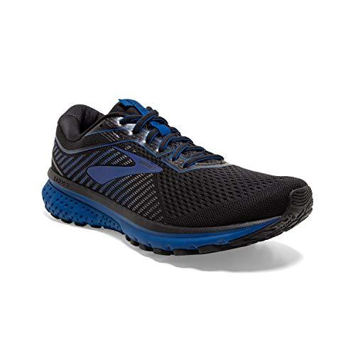 Brooks Mens Ghost 12 Running Shoe - Black/True Blue/Black - D - 10.0