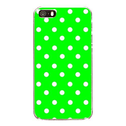 """Disagu Design Case Coque pour Apple iPhone 5 Housse etui coque pochette """"Grün Weiß gepunktet"""""""