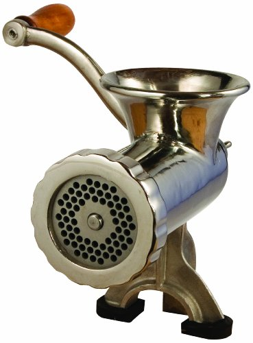 Manual Tinned Meat Grinder - LEM Products #10 Stainless Steel Clamp-on Hand Grinder