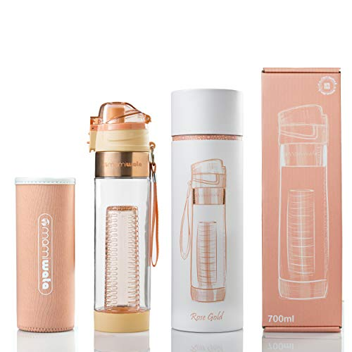 fe3ed9086c MAMI WATA Fruit Infuser Water Bottle – Beautiful Gift Box - Import It All