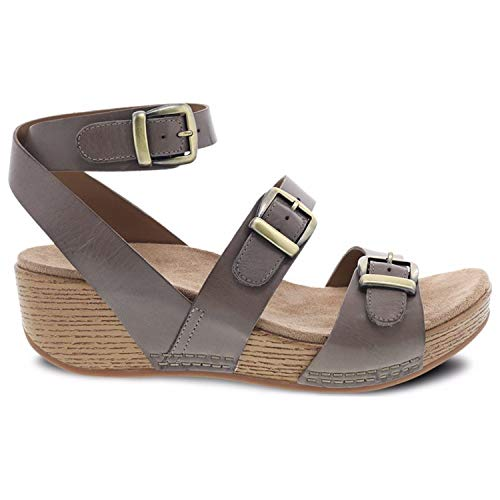 Dansko Women's Lou Sandal (Taupe Burnished Calf, 38) ()