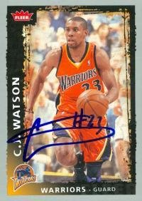 3110fdb29e3c C.J. Watson autographed Basketball Card (Golden State Warriors) 2009 Fleer   162 Rookie Year