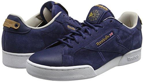 Reebok Npc Uk Ii Nubuck, Zapatillas para Hombre Azul (Blue ink/White/Sand Stone/Rbk Brass)