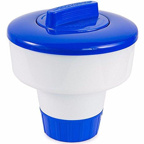 """Diffuseur Covermason 8 pouces PVC de luxe grande piscine bleue et blanche flottant distributeur de chlore 8 """"de diamètre x 8"""" en hauteur"""