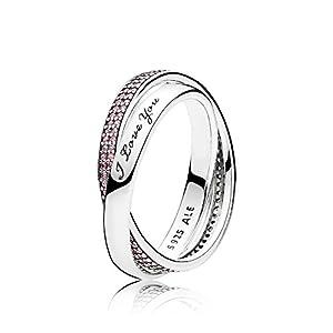 PANDORA Sweet Promise Ring, Pink CZ 196546PCZ-56 EU 7.5 US