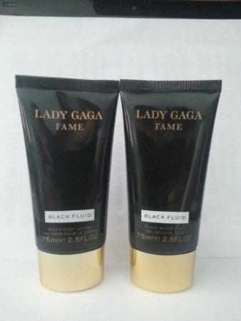 Lady Gaga Fame Black Fluid Set of 2 Shower Gel (2.5 oz.) & Body Lotion (2.5 oz.)