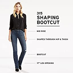 Levi\'s Women\'s 315 Shaping Bootcut Jean, Indigo Tide, 31 (US 12) L