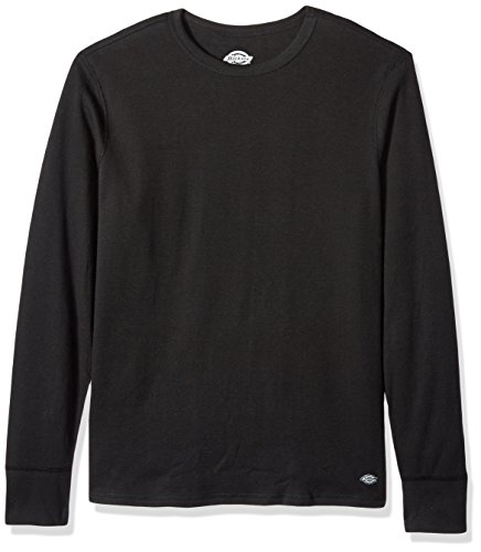 Dickies Men's Heavyweight Cotton Thermal Top, Black, Large (Top Heavyweight Thermal)