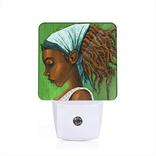 MiniRD Dreadlocks Rastafarians Girl in A Turban Themed 3D Printed Led Night Light Lamp Bedroom Decorations Decor Home Wall Ornament Merchandise Supplies Accessories Items Products Glow -